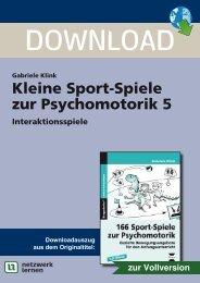 Kleine Sport-Spiele zur Psychomotorik 5 - Netzwerk Lernen