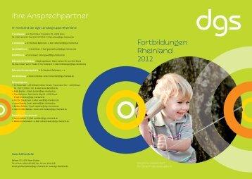 Fortbildungsverzeichnis 2012 - Deutsche Gesellschaft für ...
