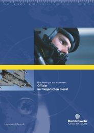 Broschüre Fliegerischer Dienst - bundeswehr-karriere