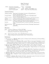 Curriculum vita (PDF) - Psychology