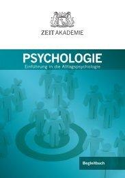 ZEIT Akademie Begleitbuch PSYCHOLOGIE.indd - Die ZEIT Akademie