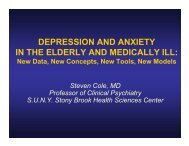 DEPRESSION AND ANXIETY IN THE ELDERLY ... - ValueOptions
