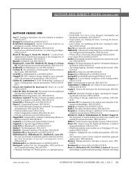 author and subject index: volume 1, 1995 - Alternative Therapies In ...