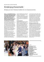 Kinderpsychosomatik - Hauner Journal