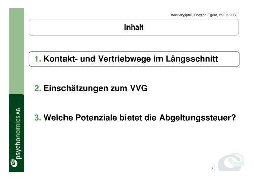 VVG und aktuelle Trends im Versicherungsvertrieb - WMD ...