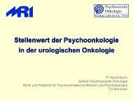 Stellenwert der Psychoonkologie in der urologischen ... - Seite