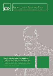 Psychologie in Beruf und Praxis eV