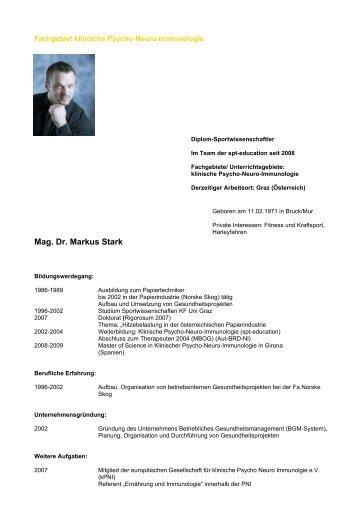 Mag. Dr. Markus Stark - SPT-Education