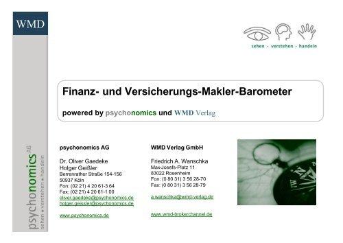 Finanz- und Versicherungs-Makler-Barometer - WMD Brokerchannel