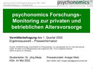 psychonomics Forschungs - WMD Brokerchannel