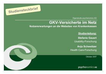 GKV-Versicherte im Netz Nutzererwartungen an die ... - YouGov