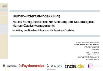 Human-Potential-Index (HPI)