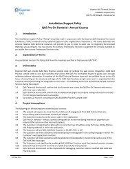 Installation Support Policy QAS Pro On Demand - Annual ... - QAS.com