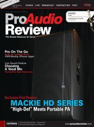 Pro Audio Review - Mackie