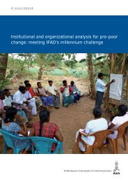 Institutional and organizational analysis for pro-poor change ...