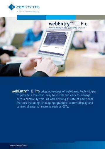 webEntry™ II Pro - CEM Systems