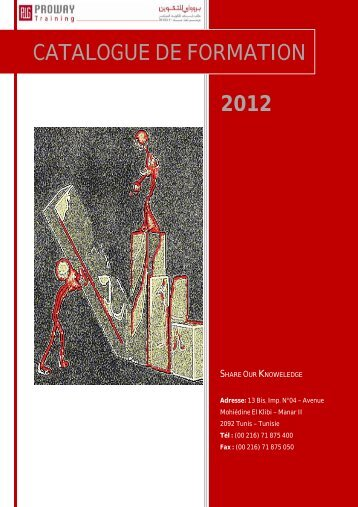 2012 CATALOGUE DE FORMATION - Proway Group