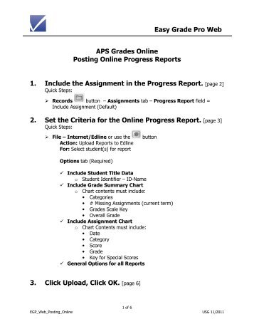 Easy Grade Pro Web APS Grades Online Posting Online Progress .