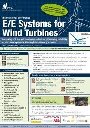 E/E Systems for Wind Turbines - Orbit