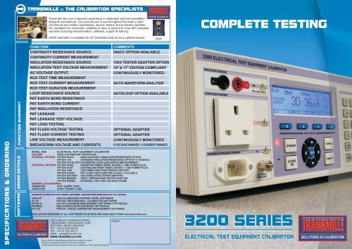 calibration software > procedure creation