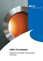CNG Cylinders - MCS international GmbH