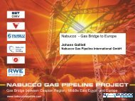 Nabucco Gas Pipeline Project - Clingendael