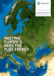 meeting europe's neeD for pure energy - Statkraft