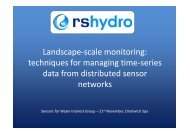 Landscape-scale monitoring: techniques for managing time ... - SWIG