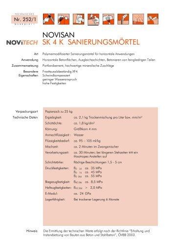 NOVISAN SK 4 K SANIERUNGSMÖRTEL - Schretter & CIE