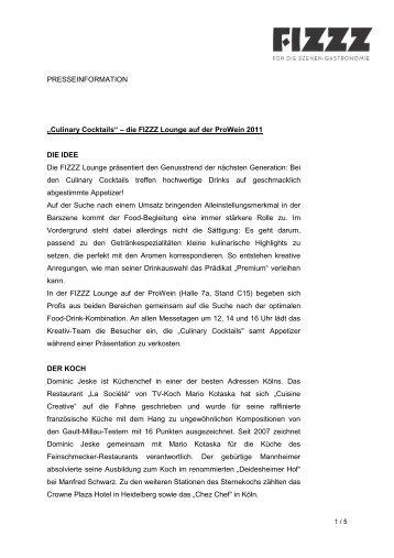 Download Presseinformation - Fizzz