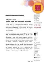 "ProWein goes China: ""ProWine Tasting Zone ... - Messe Düsseldorf"