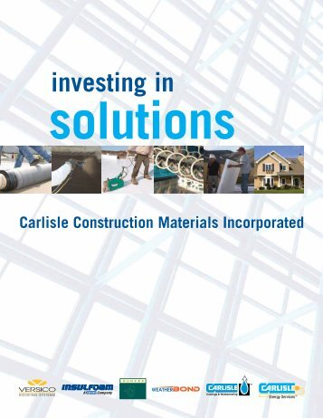 Investing in Solutions for Over 45 Years - Versico