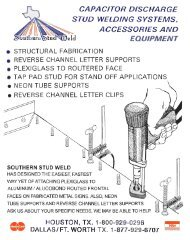 Capacitor Discharge Stud Welding Systems - PDF - Southern Stud ...