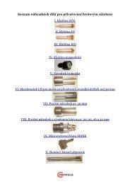 Kleštiny a nátrubky kondenzátor - Proweld