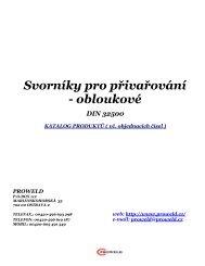 Katalog svorníků, přivařování zdvihový zážeh - Proweld