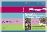 Pädagogisches Weiterbildungshandbuch 2. Halbjahr 2009 - DG ...