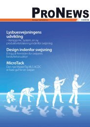 Lysbuesvejsningens udvikling Design indenfor svejsning ... - Kemppi