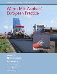 Warm-Mix Asphalt: European Practice - the Office of International ...
