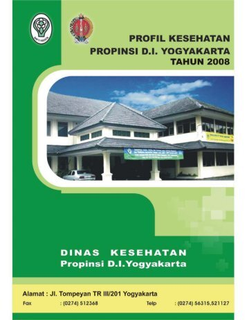 profil kesehatan propinsi di yogyakarta tahun 2008 - Departemen ...