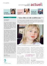 Journal des donateurs « actuel - Pro Infirmis