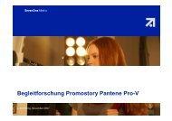Begleitforschung Promostory Pantene Pro-V - Wirkstoff TV