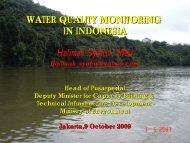 WATER QUALITY MONITORING IN INDONESIA Halimah ... - WEPA