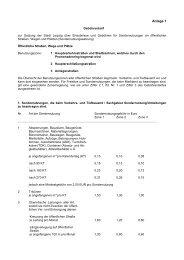 Gebühren für Sondernutzung - Stadt Leipzig
