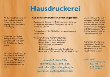 Werbung Hausdruckerei.cdr - Universität Augsburg
