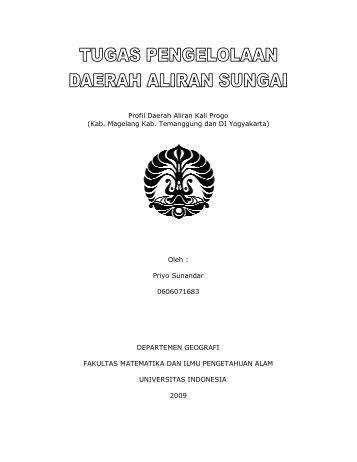 Profil Daerah Aliran Kali Progo - Blog Staff UI - Universitas Indonesia