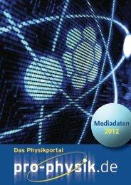 Werbung - Pro-Physik.de