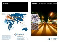 Lucocell® _ The Stabilizer for Stone Mastic Asphalt Locations.