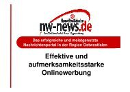 Mediadaten Onlinewerbung - Neue Westfälische