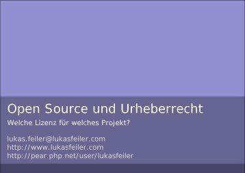 Open Source und Urheberrecht - lukasfeiler.com - Lukas Feiler