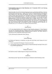 Friedhofsgebührensatzung der Stadt Wesseling vom 11. Dezember ...